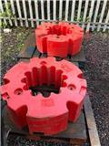 Fendt 2 x 1000 KG Wheel Weights, 2020, Otros accesorios para tractores