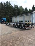 Jyki JYKI 5 axl. lastväxlarsläp/lastväxlarvagn, 2019, Anhänger-Absetzkipper
