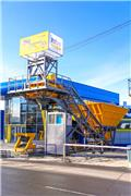 ZZBO Mobile concrete plant QB-95/бетонный завод QB-95, 2020, Betona krātuves