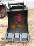 Tieflöffel Oilquick OQ 70/55 - 100cm-BKL:16-20T, Acessórios Retroescavadoras