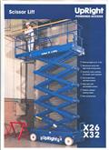 Upright X32, 2008, Scissor Lifts