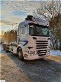 Scania R 520, 2014, Camiones elevadores de gancho