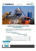 Nisbau Euromix 30, 2019, Stavební míchačky