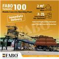 Fabo READY IN STOCK MOBILE CONCRETE PLANT 100 M3/H、2020、混凝土搅拌站 干混砂浆搅拌站 稳定土搅拌站