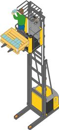 Atlet 100 D TFV, 2011, High lift order picker