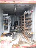 Borrstål, borrkronor i 1 containers, 2013, Borutstyr tilbehør og deler