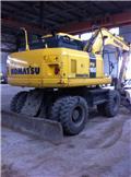Komatsu PW 160, 2012, Wheeled excavators