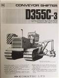 Komatsu D 355 C-3 CONVEYOR SHIFTER, 1980, Rohrverlegeraupen