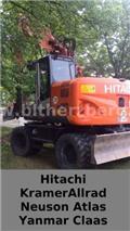 Hitachi ZX 145, 2012, Wheeled excavators