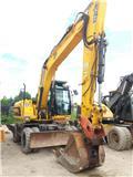 JCB JS 160 W, 2010, Excavadoras de ruedas