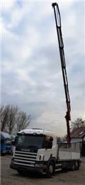 MAN G420 / HMF Kran 22m + FUNK / 1. Hand NUR 477 km, 2002, Flatbed/Dropside trucks