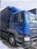 MAN Tgm 320، 2008، شاحنات مسطحة/مفصلية الجوانب