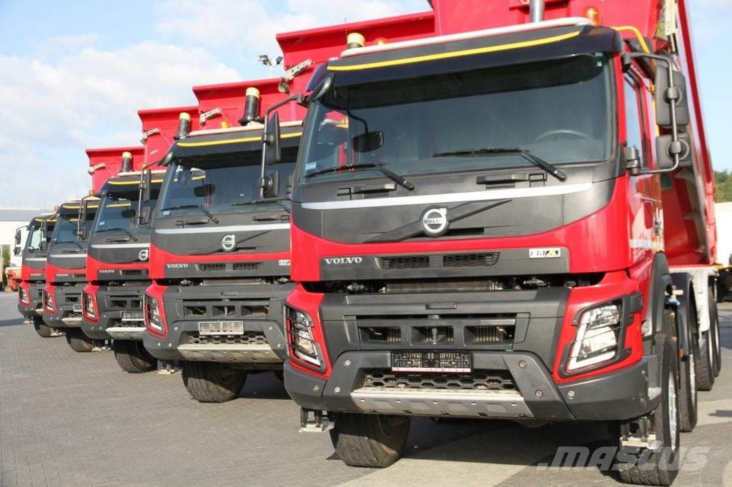 Volvo TIPPERS 8x6 FMX 460 KM RIGID E6 7 UNITS!
