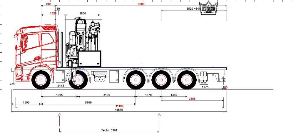 Volvo FH13 540 10x4 Fassi F1150RA.2.28 L616
