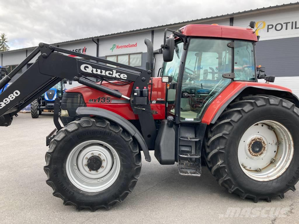 Case IH MX 135 + Quicke etukuormain