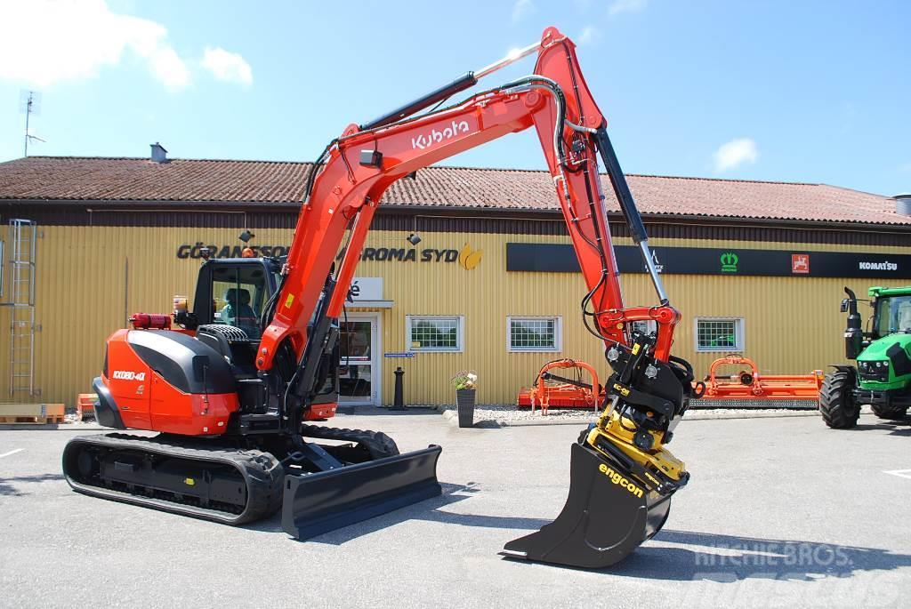 Kubota KX 080-4 Midigrävare, 8,2 ton