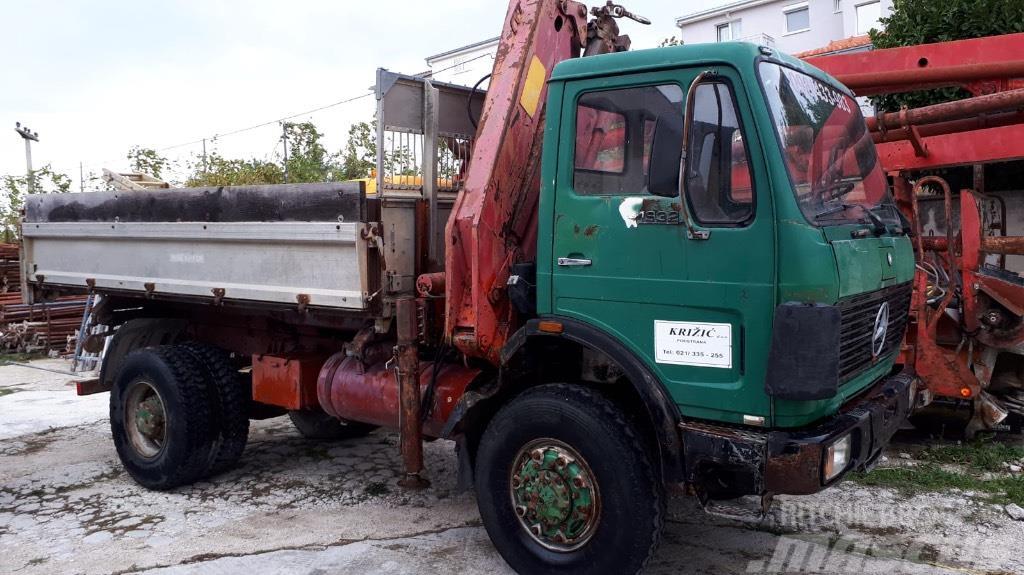 MB 1719 4x4 Kipper kran