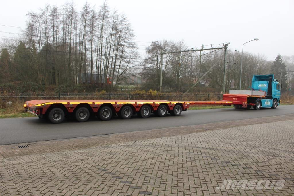 Es-ge 7-axle extend Semi-lowloader  5x friction steering
