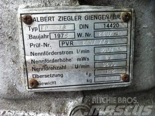 Ziegler Wasserpumpe FP 16/8, 1978, Övriga