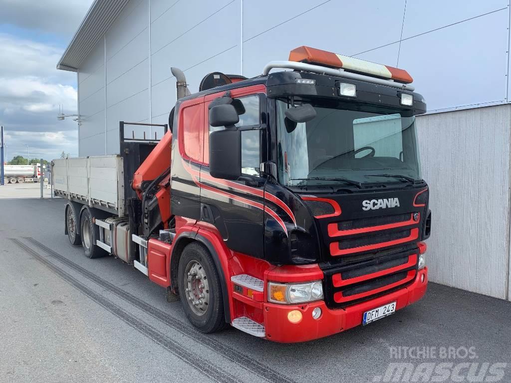 Scania P400 Tipp och kranbil -11
