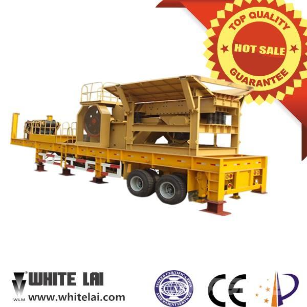White Lai Mobile Jaw Crusher Crushing Plant WL1142E710