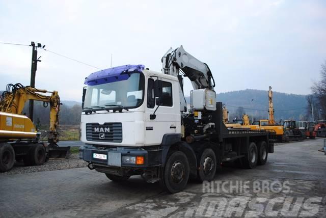MAN 8X4 35-403 dzwig 21 ton cztery podpory sterowany p
