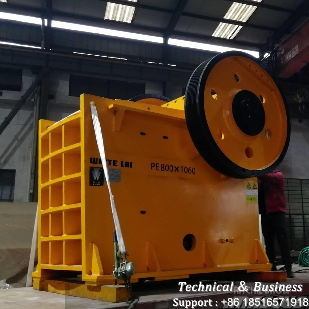 White Lai PE800X1060 STONE JAW CRUSHER MACHINE