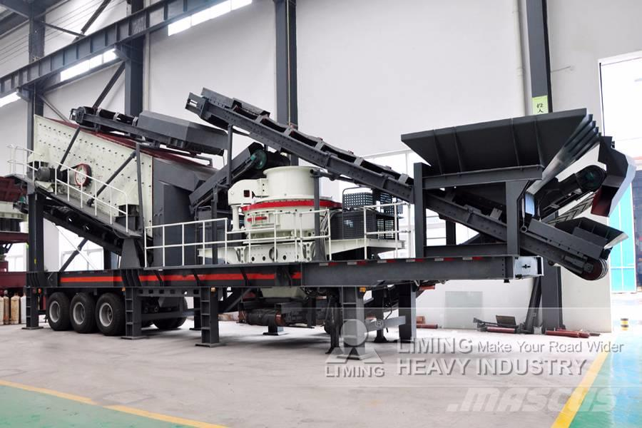 Liming VSI shaping and screening plant