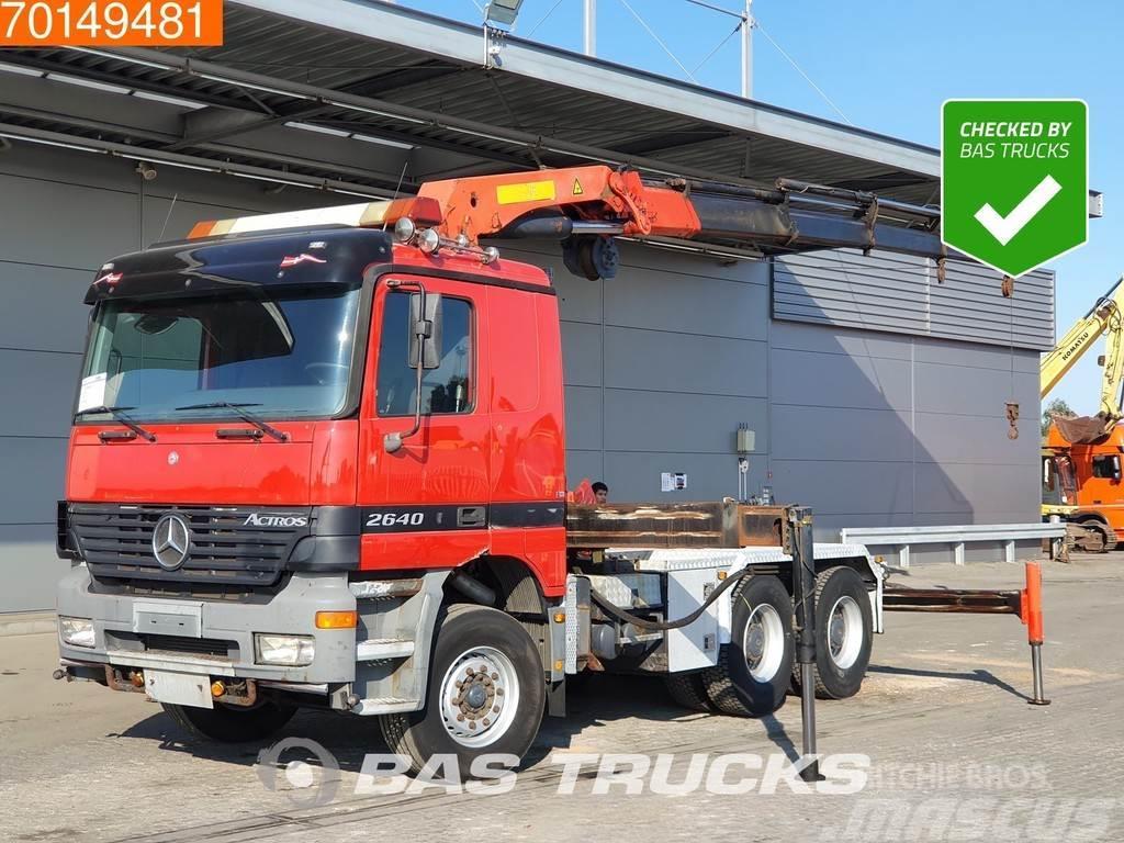 Mercedes-Benz Actros 2640 6X4 Big-Axle 3-Pedals Euro 3 Palfinger