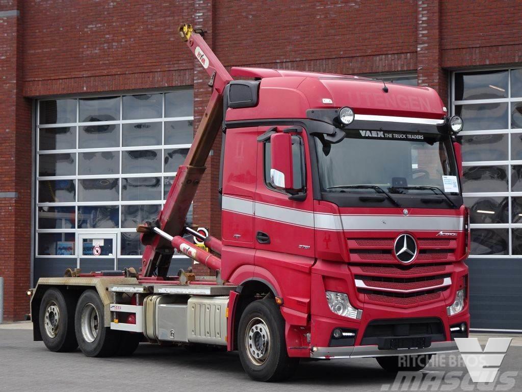 Mercedes-Benz Actros 2751 6x2 - Hooklift Hyva 22T - Retarder - F