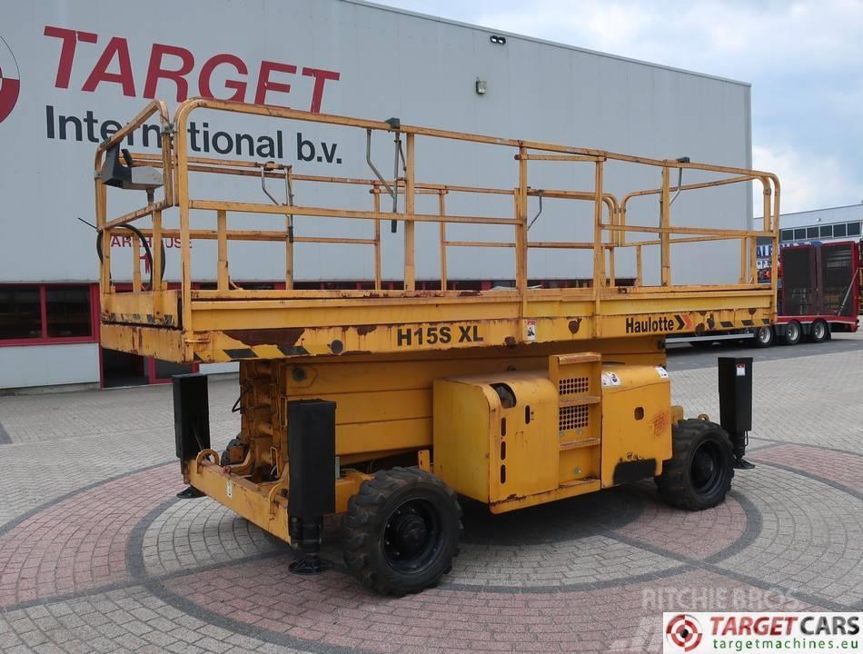 Haulotte H15SXL Large Deck Diesel 4x4 Scissor LIft 1500cm
