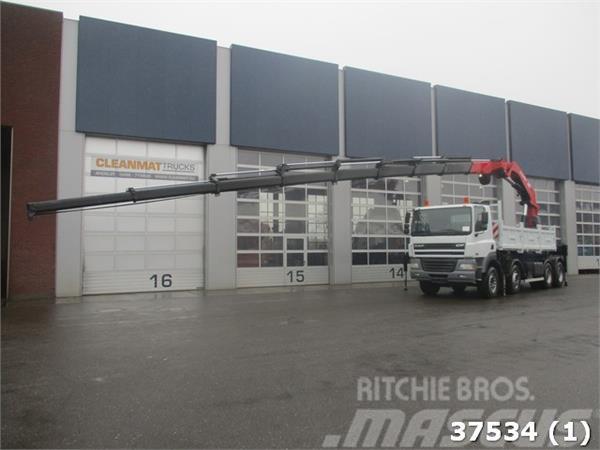 DAF FAD 85 CF 430 8x4 Intarder HMF 60 ton/meter Kran