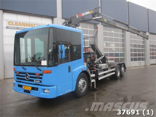 mercedes benz econic 2628 hiab 22 ton meter kran preis baujahr 2005 abrollkipper. Black Bedroom Furniture Sets. Home Design Ideas