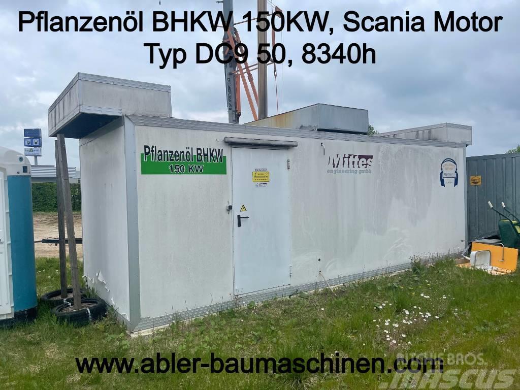 Scania BHKW Blockheizkraftwerk 150KW Pflanzenöl
