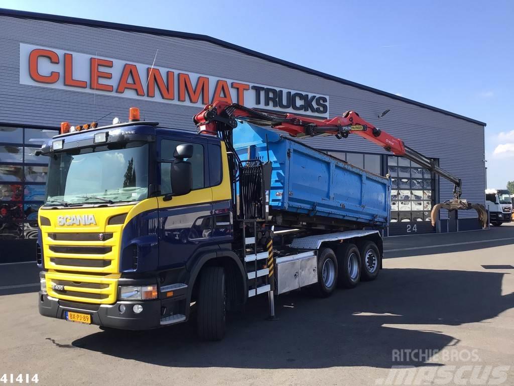 Scania G 400 8x4 Manual Palfinger 15 ton/meter Z-kraan
