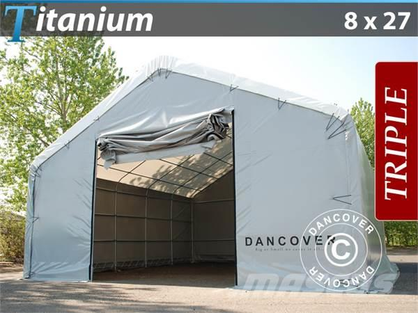 Dancover Storage Shelter 8x27x3x5m Titanium Telthal