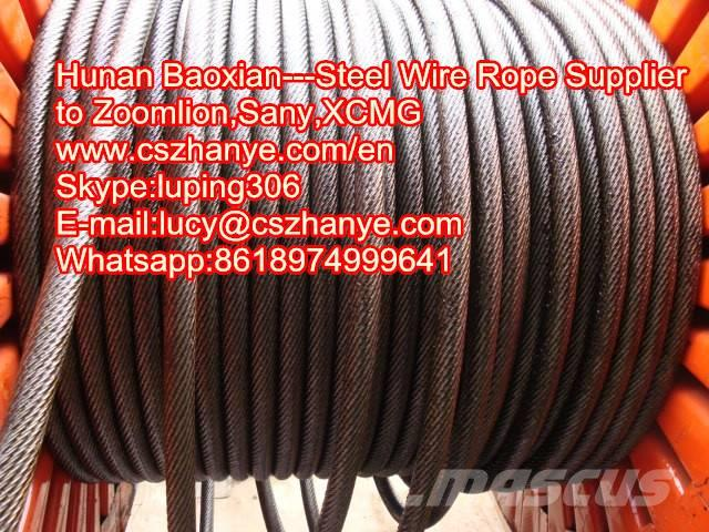 Wire rope for Zoomlion QY25V crane 4V , 2017 - Crane parts and ...