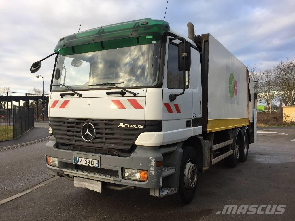 Mercedes benz actros 2531 waste trucks year of mnftr 2003 for Mercedes benz actros for sale