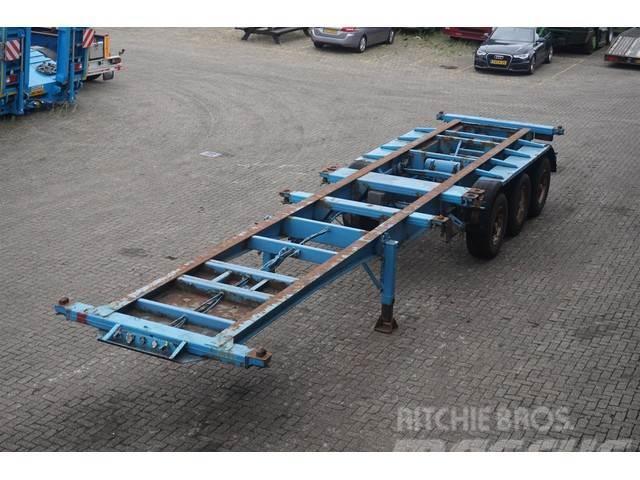 Blumhardt Container chassis 3-assig 40ft/full steel/uitschui