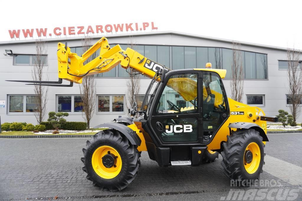 JCB 531-70 , 110 HP , joystick , q-c , forks