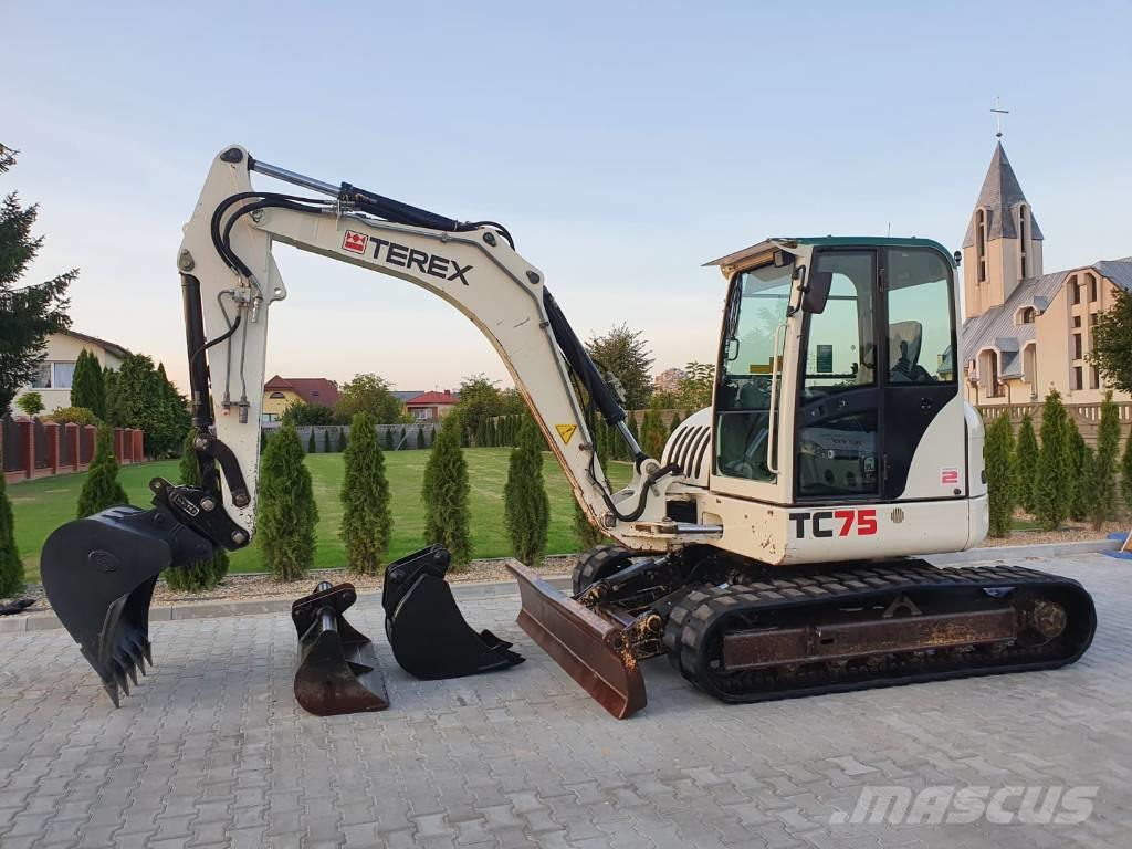 Terex TC 75 2010R. CAT 308 BOBCAT JCB