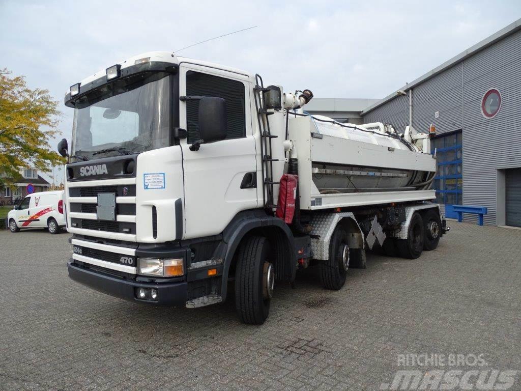Scania 124-470 / KOLKZUIGER / 8X2 / EURO-3 / 2003
