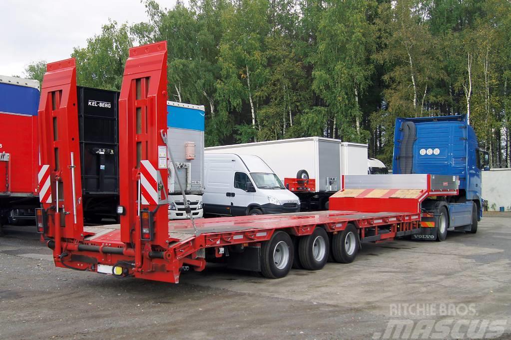 Grunwald 3-axle lowbed heavy semitrailer