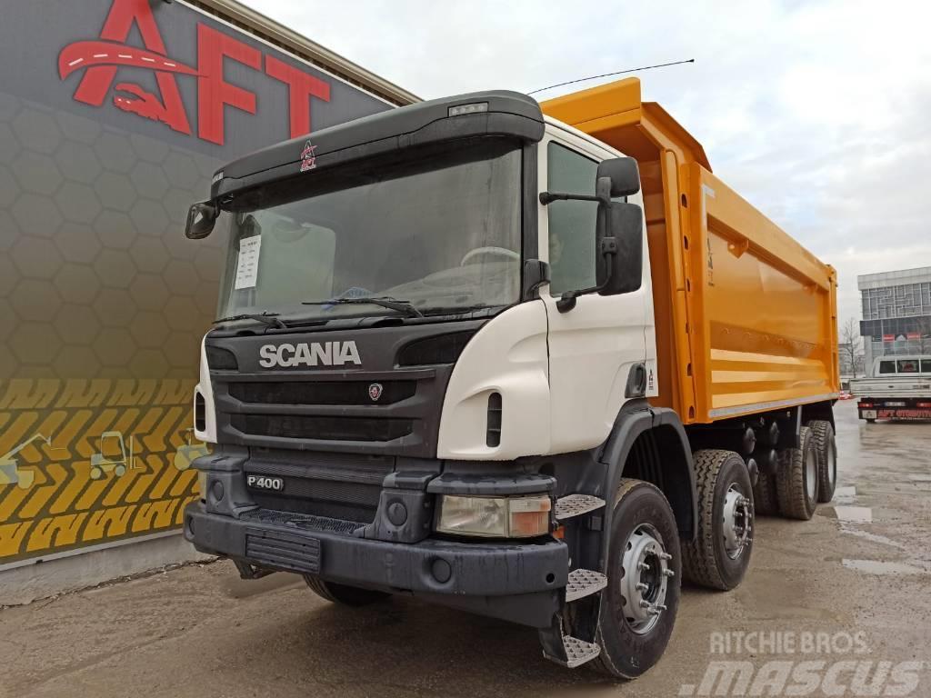 Scania 2016 P400 8X4 OTO. AC HARDOX TIPPER