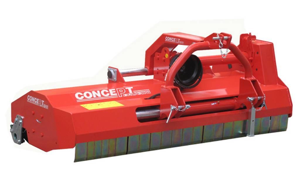 Concept Perugini PT140 Bagmonteret slagleklipper m. hyd. sideforsky