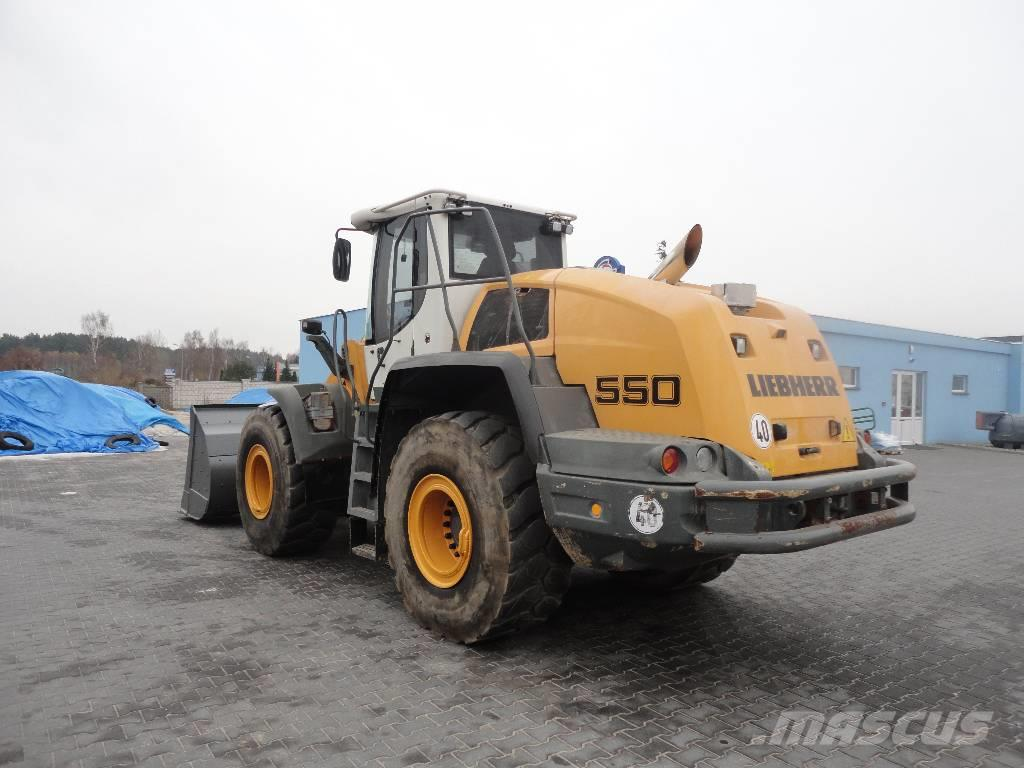 used liebherr l 550 wheel loaders year 2014 price 87 525 for sale mascus usa. Black Bedroom Furniture Sets. Home Design Ideas