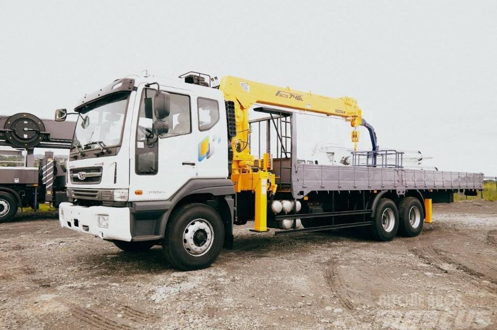 Daewoo Novus 15 тонн с манипулятором Soosan 746