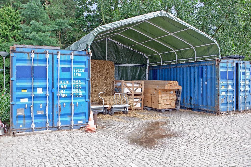 Fendt Zeecontainer overkapping, mobiele werktent, 6x6m