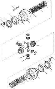New Holland - carcasa diferential - 140478 , 85827752 , C77AO0