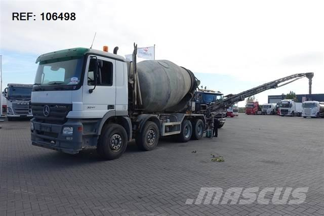 MB Trac ACTROS 3244 8X4 EPS FULL STEEL STETTER 9M3 EURO 3